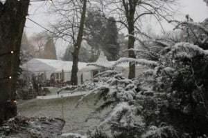 Marquee - snow newmarket suffolk