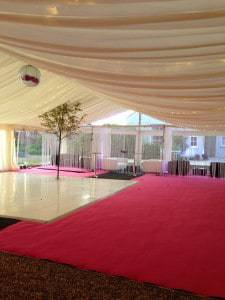 VIP Chillout Zone in party marquee